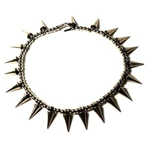 Punk Goth Rave Spiked Necklace